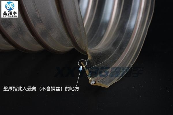 pu吸尘管,耐磨软管,鑫翔宇pu钢丝伸缩管